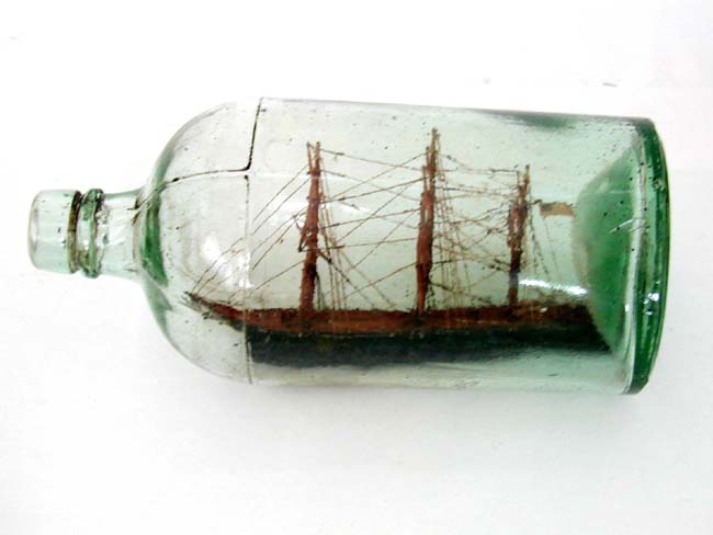 Antique Ship-in-a Bottle Circa 1900.