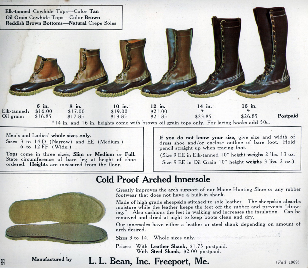 Ll Bean Maine Hunting Shoe Sizing