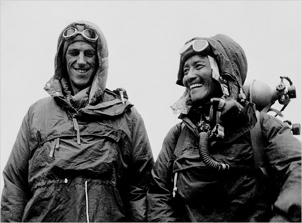 the accomplishments of man in conquering mount everest Hillary's comment to george lowe, after his successful ascent of mt everest, as he and tenzing norgay were descending from the summit (29 may 1953) as on neil armstrong's famous first words on stepping on the surface of the moon,  that's one small step for [a] man, one giant leap for mankind the sunday times.