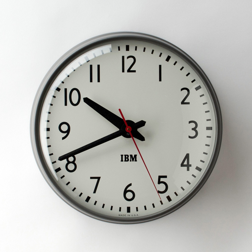 Back In Time The 1960s Ibm Wall Clock A Continuous Lean