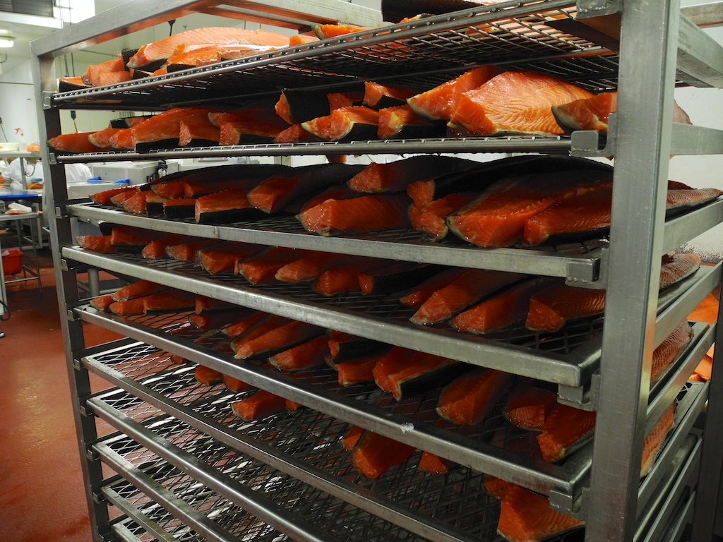 Smoked salmon rack