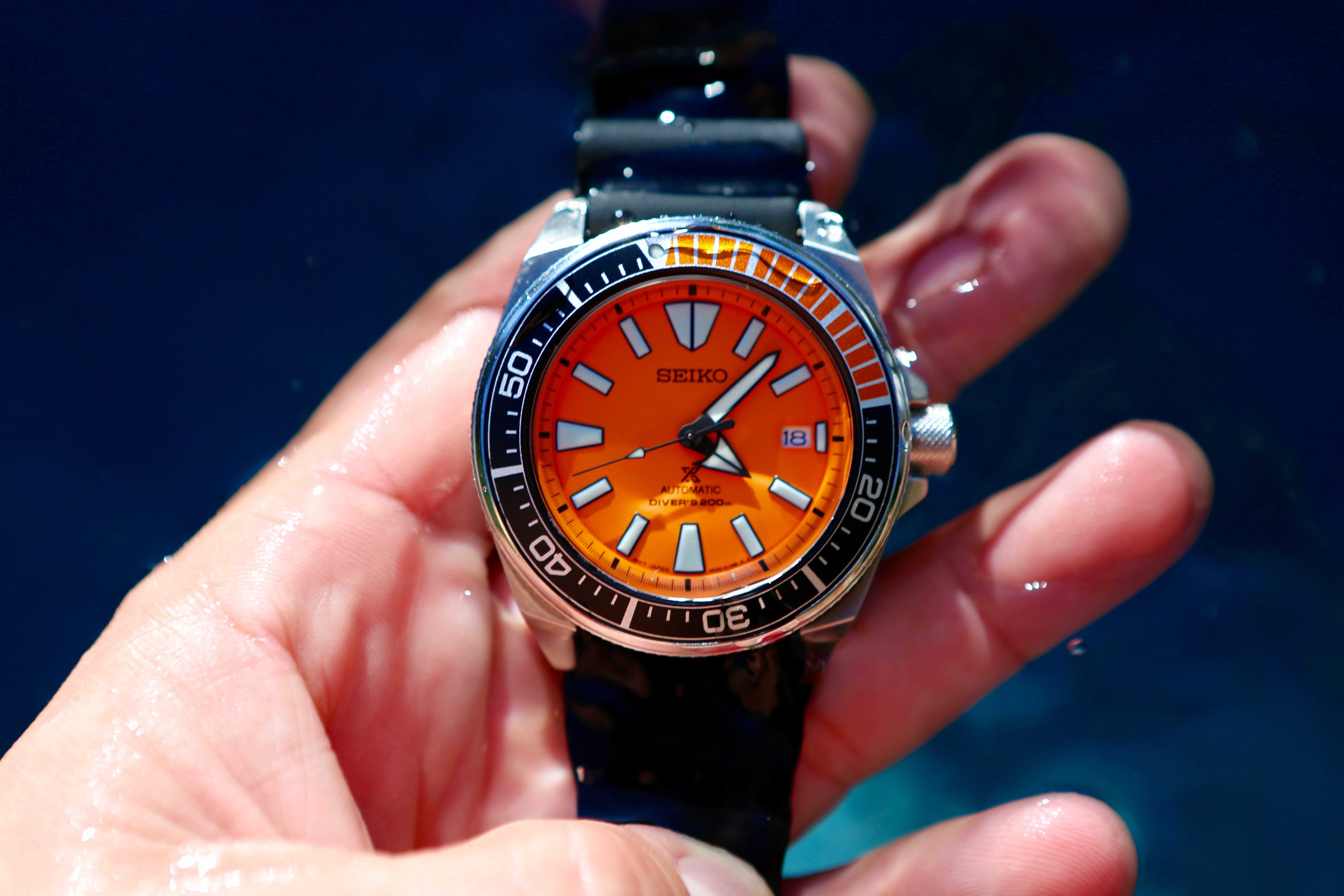Seiko makes waves with a new orange diver a continuous lean - Orange dive watch ...